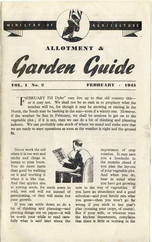 Monthly Growing Guide February 1945