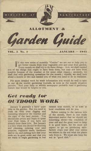 Monthly Growing Guide January 1945