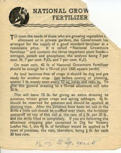 National Growmore Fertiliser Leaflet