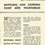 Bottling & Canning Fruit & Vegetables DfV 11 1941