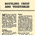 Bottling Fruit & Vegetables DfV 11 1943