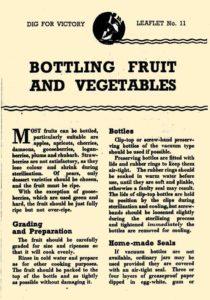 Bottling Fruit Vegetables Guide