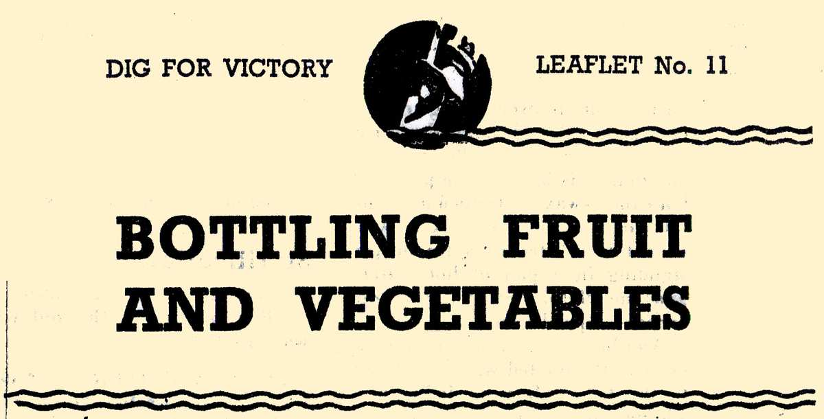 Bottling Fruit Vegetables