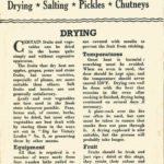 Drying * Salting * Pickles * Chutneys DfV14