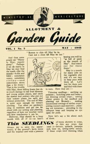 Monthly Growing Guide May 1945