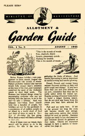 August 1945 Wartime Growing Guide