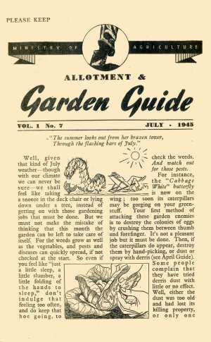 July 1945 Wartime Dig for Victory Guide