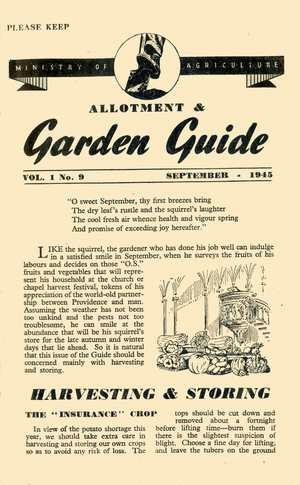 September 1945 Monthly Dig for Victory Guide